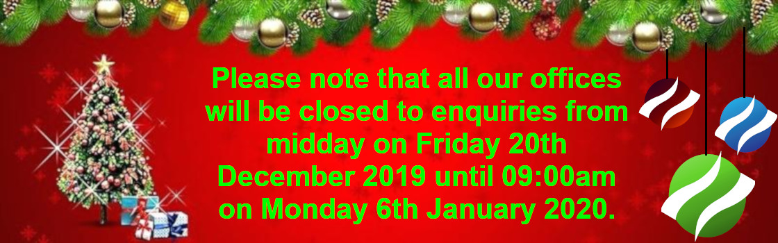Please note that all our offices will be closed to enquiries from midday on Friday 20th December 2019 until Monday 6th January 2020