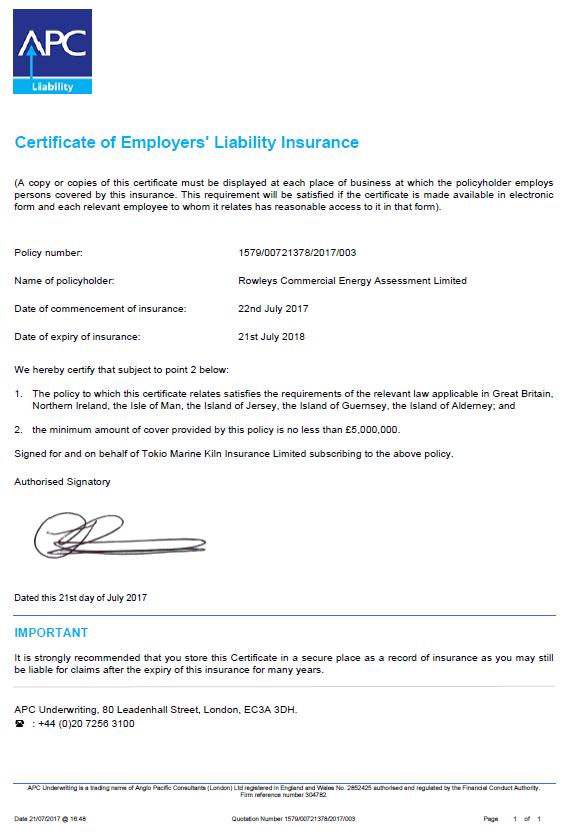 Insurance Rcea Ltd